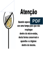 AVISO MICROONDAS