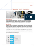 Principles of Application Centric Infrastructure