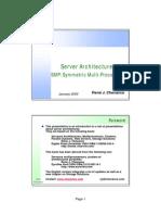 ServerArchitectures SMPSymmetricMulti Processors