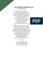 Radiohead Machine & the Blue-Grays (Poem)