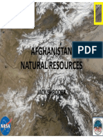 Natural Resources of Afghanistan by Jack Shroeder