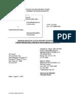Buchel Summary Judgment Brief