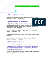 4° Lettre exercices