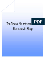 The role of Neural Transmitters in Sleep