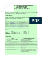 PSYC5120 Outline