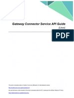 Gateway Connector Service API Guide Linux 2015 0203