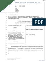 Gonzalez v. City of Fresno, et al - Document No. 75