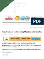 WBJEE Seat Matrix 2014 Medical and Dental - Admission & Entrance Exams