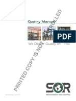 Sor Quality Manual
