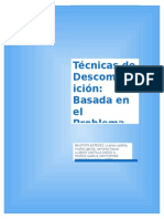 Is TecnicaDescomposicionBasadaProblema