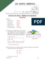 Exercícios de reforço - Medidas de comprimento - Respostas