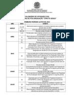 Calendario PRPPG - 2013