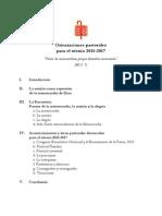 Orientaciones Pastorales para el Trienio 2015-2017