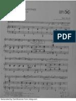 Danzas Rumanas de Bartok Para Clarinete y Piano (Piano)