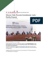 04-07-2015 Unión - Moreno Valle Presenta Formalmente Vuelo Puebla-Panamá