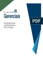 Metodos Gerenciais (Lean - Six Sigma - TPM)