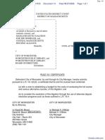 Doe et al v. City of Worcester et al - Document No. 14