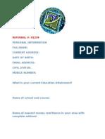 Yukiro Database Services - Membership Form