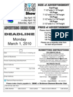 Springs How Advertisers Order Form