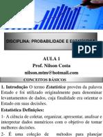 1- Estatistica Conceitos Basicos e Redução de Dados - NOVO - PARA ALUNOS