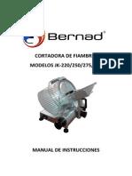 Manual CORTADORA DE FIAMBRES