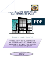 Ampliacion y Mejoramiento Del Palacio Municipal de Cajas