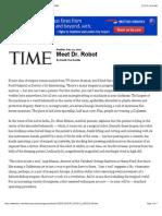 Meet Dr. Robot -Health Checkup- Robotics- Printout - TIME