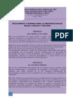 Normas y Reglamentos Mesas Clinicas y Poster Cop Bodas de Oro