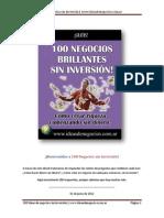 100 Negocios Sin Inversion