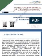Prueba No Paramétrica Kruskal Wallis