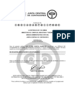 Certificado Contadora