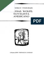 Thomas Wolfe Novelista Americano