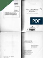 ORTIZ OSES a Metafisica Del Sentido Una Filosofia de La Implicacion Deusto 1989