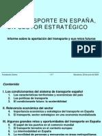 El Transporte en España- Sector Estratégico - PRESENTACION