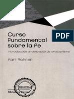 RAHNER K Curso Fundamental Sobre La Fe Herder 2012