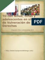 To Con Niños, Niñas y Adolescentes en Situación de Vulneración de Derechos.integrado Niños I