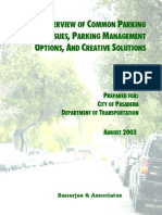 Common Parking Issues, Management and Creative Solutions