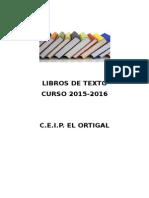 Libros de Texto Curso 2015 2016