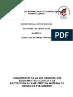 Reglamento de La Ley General Del Equilibrio Ecológico
