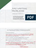 Essay Writing Problems