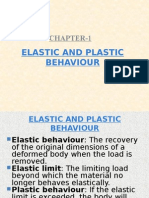 Elastic and Plastic Behaviour 2