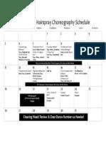 hairspray choreography rehearsal schedule