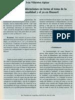 Algunas Consideraciones en Torno Al Tema de La Intencionalidad y El Yo en Husserl, Ivan Villalobos Alp