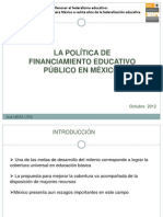 Financiamiento Educativo en Mexico