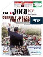 Nº 679 - Especial Golpes Blandos y Situación en Ecuador - Julio 2015