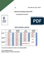 Programme de Stage jeux mathématiques  2015
