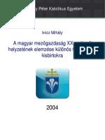 A magyar mezőgazdaság XX. századi helyzetének elemzése