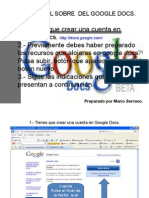Tutorial Para Subir Un Documento a Google Docs