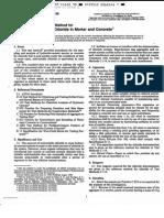 ASTM C 115290 - Std Tes Method Por Acid-soluble Cl in Mortar and Concrete