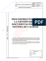 014 Procedimiento Gestion Documentacion Sistema Gestion Calidad